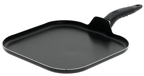 Mirro A79713 Get A Grip Aluminum Nonstick Griddle Cookware, 11-Inch, Black