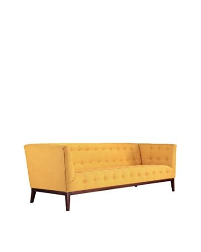 Kardiel Margaret Mid-Century Modern English Tufted Sofa, Citrine