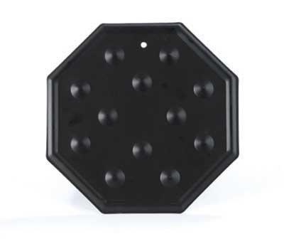 Black Octagonal Simmer Plate Heat Diffuser - 20cm
