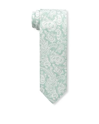 Isaia Men's 7-Fold Wool Blend Tie, Aqua
