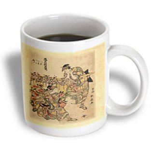 Mug_173907_2 Florene - Asian Art - Image Of Two People With Flower Cart - Mugs - 15Oz Mug