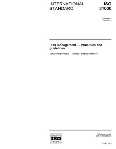 Tag/asnzs Iso 310002009 Risk Management Principles And Guidelines