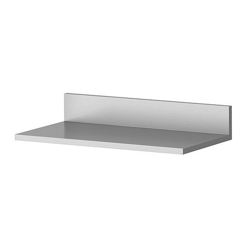 Ikea Stainless Steel Wall Shelf 001.777.15, 15.75 Inch