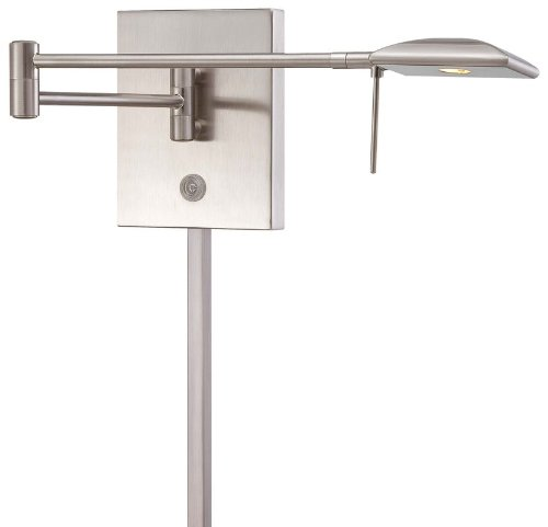 """Kovacs P4328-084 1 Light 6.25"""" Height Led Plug In Wall Sconce In Brushed Nickel, Brushed Nickel"""