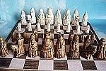 Isle of Lewis Chess Set 3.5 Inch (Maple/ivory)