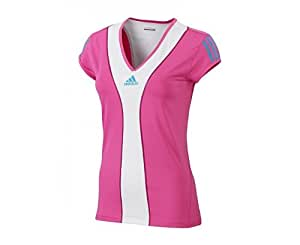ADIDAS Barricade Tee-shirt pour Femme, Rose/Blanc, 36