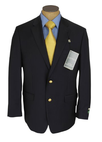 Ralph Lauren Mens 2 Button Navy Blue Wool Blazer Sport Coat Jacket - Size 46R at Sears.com