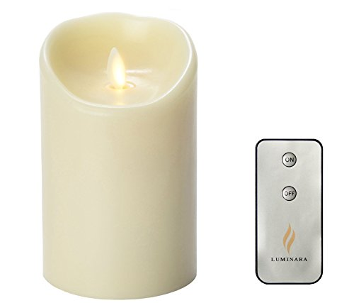 Luminara Flameless Candles Wax Candle 3.5 by 5-Inch Ivory with Timer Remote Included ¡ (Luminara Candles Remote compare prices)