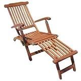 Deckchair, Liegestuhl, Gartenliege, Holzliegestuhl, Yellow Balau-Bangkirai Holz