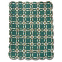 "Green Double Wedding Ring Quilt King 105""x 95"" QKGDWR by Patch Magic"