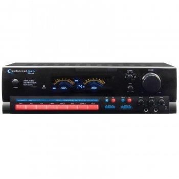 Brand New Technical Pro RX504 Black 1,500 Watt Integrated Am