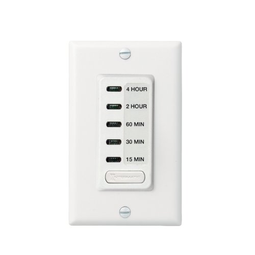 Intermatic Ei215W 15/30/60 Minute, 2/4 Hour Spst 1800-Watt In-Wall Countdown Timer, White