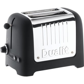 Dualit Lite Toast / Toaster 2 Slice Black (No Commercial Warranty) - high quality and heavy duty kitchen appliances from Dualit