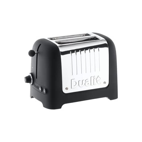 Dualit Lite Toast   Toaster 2 Slice Black (No Commercial Warranty) - high quality and heavy duty kitchen appliances
