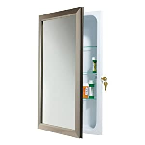 Broan nutone 625n244bzcl hampton locking recessed bath for A bathroom item that starts with n