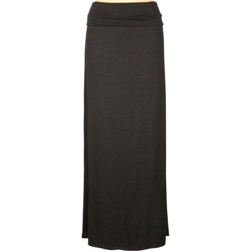 discount on tilt fold waist womens maxi skirt