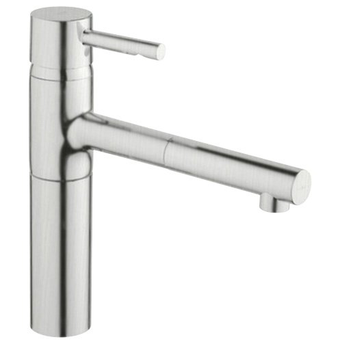 Grohe 32 170 DC0 Essence Single Spray PullOut Kitchen Faucet, Infinity SuperSteel