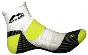 Adults More Mile cushioned pair LONDON running socks White/Black/Yellow
