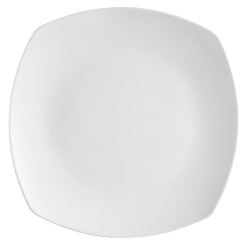 CAC China COP-SQ8 Coupe 9-1/4-Inch Super White Porcelain Square Plate, Box of 24