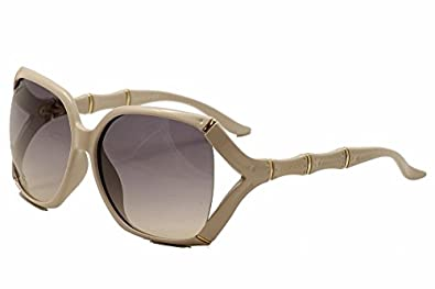 Gucci GG3508/S Sunglasses-0RVS Beige (PG Gray Blue Gradient Lens)-58mm