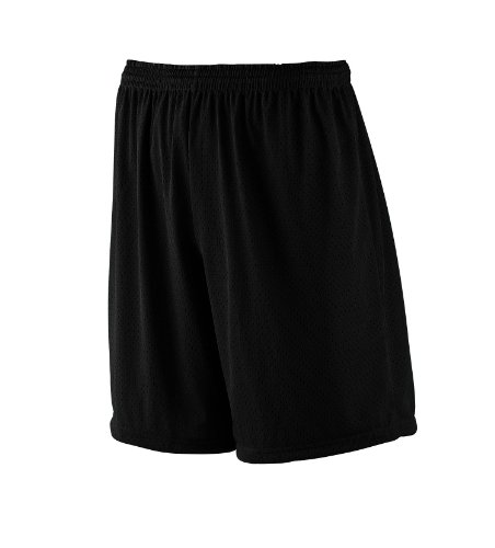 Black//Light Gold//White Augusta Sportswear Youth Retro Basketball Shorts S