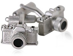 Unique Satin Finished Camera Silver Cufflinks for Photograpy Hobbiests with Presentation Box