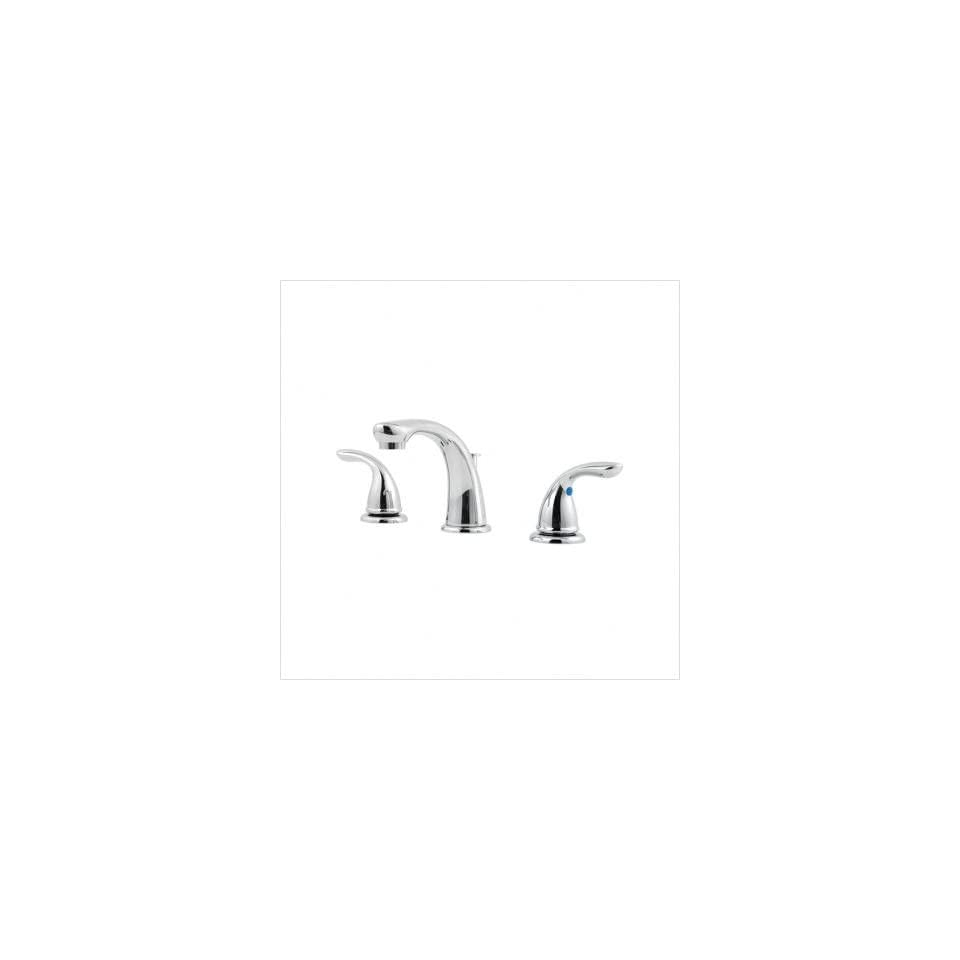 Price Pfister 149 10 Pfirst Series Widespread Bathroom Faucet with Metal Lever Handles Finish / Pop up Drain Included Satin Nickel / Yes