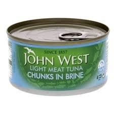 John West Light Meat Tuna Chunks In Brine ,185gms