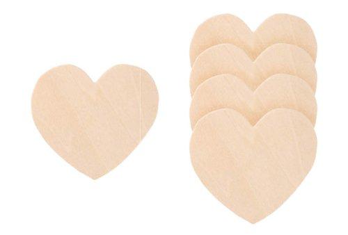 Darice 9138-41 Wood Heart Cutout, 2-Inch