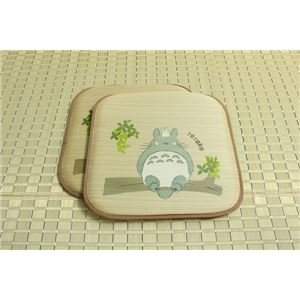 Indigenous textile ADRA is grass cushions 'of Acorn trees Totoro 2-disc' approximately 55 x 55 cm × 2 P