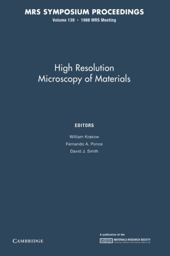 High Resolution Microscopy Of Materials: Volume 139 (Mrs Proceedings)