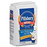 Pillsbury Best All Purpose Bleached & Enriched Flour 5 lbs (Pack of 8)