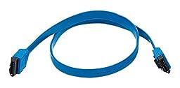 C&E 5 Pack, 18 inch SATA 6Gbps Cable w/Locking Latch  Blue, CNE532943