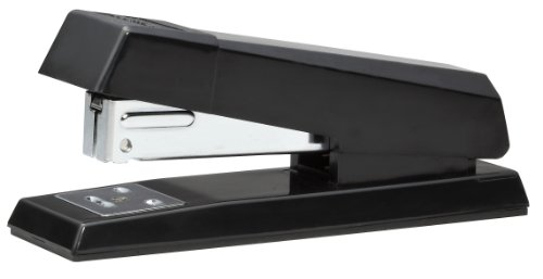 Stanley Bostitch AntiJam Half Strip Stapler, 20 Sheet Capacity, Black (B600-BLACK)