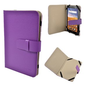 Purple Premim PU Leather Flip Case Cover Stand For 7″ 7 inch Tablet PC GOOGLE Android 2.2 EASY TAB MID Apad Epad 7 inch kindle fire NEW e reader book playerbook Universal