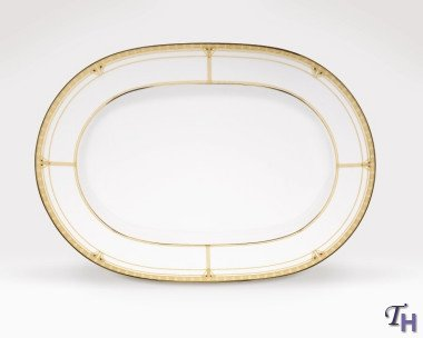 Noritake Palmer Gold 16-Inch Oval Platter