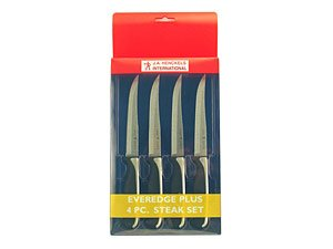 J. A. Henckels International 4-pc. Everedge Plus Steak Knife Set.