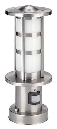 IVT Edelstahl Sockelleuchte mit Bewegungsmelder, 30cm hoch PL-107SO PIR