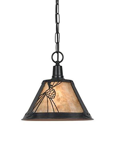 Cal Lighting Pinecone Mica Metal Pendant, Rust