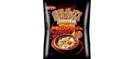 湖池屋 ポテトチップスプレミアム 伊勢えびのアヒージョ味 1箱(12袋)