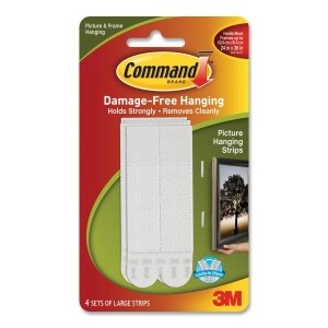 Command Stay Large Picture Hanging Strip 6 PK/BG