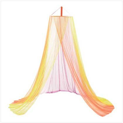 Heavenly Rainbow Fantasy Bed Canopy Girls Bedroom Decor [Kitchen]