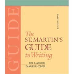 The St. Martin's Guide to Writing- Text Only