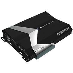 Power Acoustik Gt1-2400D Gothic Series Class D Amplifier (2400W Max; 900W @ 4Ohm ; 1150W @ 2Ohm ; 1500W @ 1Ohm ; Includes Gain Control) by Power Acoustik