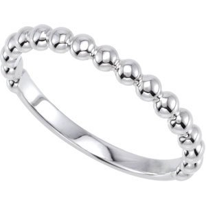 Sterling Silver Stackable Metal Fashion Ring - JewelryWeb