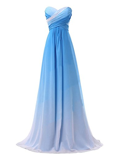 KAY&LAYLA Ombre Chiffon Gown 2015 Pleated Gown Celebrity Gown Long