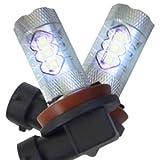 ヴォクシー/VOXY 80系 80W H16 CREE史上最も明るい 最新XT-E搭載 LEDバルブ フォグランプ