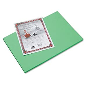 Pacon Riverside Recycled Construction Paper, 76 lb., 12 x 18, Green