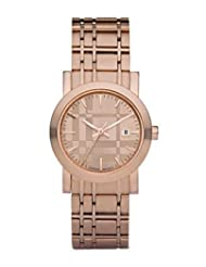 New BURBERRY BU1866 Women's Rose Gold Tone Stainless Steel Watch
