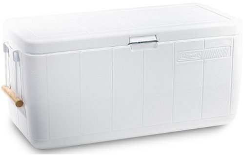 Coleman 100 Quart Cooler Marine With Rope Handles White